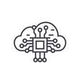 cloud computing linear icon sign symbol vector image