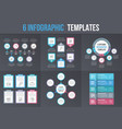 6 infographic templates vector image vector image