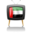 A television with the UAE flag vector image vector image