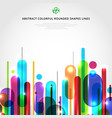 abstract dynamic composition made various vector image vector image