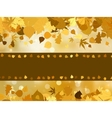 autumn leaves banner vector image