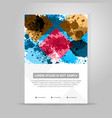 banner color concept geometric design vector image vector image