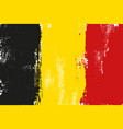 belgium colorful brush strokes painted flag vector image vector image