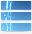 Bright swoosh smooth wave web header collection vector image vector image