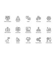 business management line icons collection vector image vector image