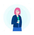 businesswoman - flat design style vector image
