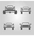 car logo set car icons collection vector image vector image