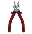 Cartoon pliers tool vector image vector image