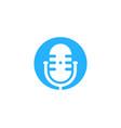 circle podcast logo icon design vector image