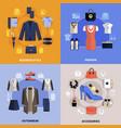 clothes flat concept vector image