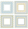 Collection of pattern frames with brushes vector image vector image