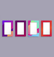 colorful photo frames set vector image vector image