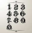 decorative number element vector image vector image