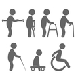 Disability people pictograms flat icons isolated vector image vector image