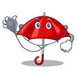 doctor umbrella red in a character beautiful vector image vector image