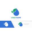 eco water logo combination clean drop logotype vector image
