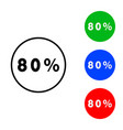 eighty percentage circle icon vector image vector image