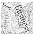 entrepreneur home based business Word Cloud vector image vector image