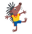 funny little hedgehog vector image vector image