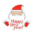 funny santa claus with new year lettering in vector image vector image