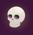 game icon skull vector image vector image
