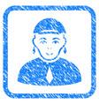 gay framed stamp vector image vector image