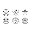 golf club premium since 1968 logo golfing club vector image vector image