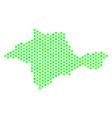 green honeycomb crimea map vector image vector image