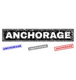 grunge anchorage scratched rectangle watermarks vector image vector image