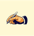 Hand writer sketch retro color
