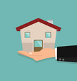 hands holding wiht new house vector image vector image
