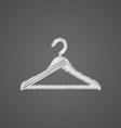 Hanger hat sketch logo doodle icon vector image vector image