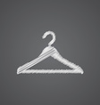 Hanger hat sketch logo doodle icon vector image