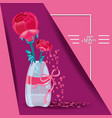 happy mother day card with flowers in vase vector image