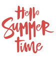 inscription hello summer print with text summer vector image vector image