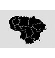 lithuania map - high detailed black map with vector image vector image
