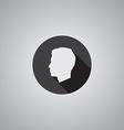 Male profile symbol flat vector image