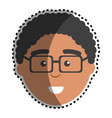 man with facial expression using glasses vector image vector image
