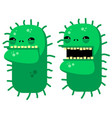 medical angry virus character in flat style vector image