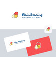 medicine logotype with business card template vector image