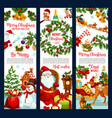 merry christmas wish santa greeting banners vector image vector image