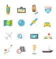 Navigation icons flat vector image vector image