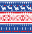 Nordic seamless pattern with deer and christmas vector image vector image