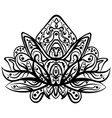 ornamental lotus ethnic zentangled tattoo vector image vector image