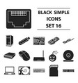 personal computer set icons in black style big vector image vector image