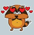 raccoon vector image vector image