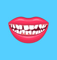 realistic detailed 3d dental problem on a blue vector image vector image