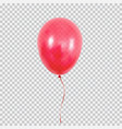 red helium balloon isolated on transparent vector image vector image