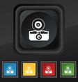 retro photo camera icon symbol Set of five vector image vector image