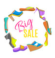 round isolated shoes composition vector image vector image